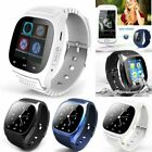 Bluetooth Smart Wrist Watch Phone Mate Touch Screen Pedometer For IOS Android