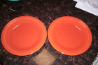 Fiesta Two (2) Dinner Plates Paprika Color --- NEW!