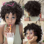 Natural Look Synthetic Hair Full Wig Curly Black Afro Wig African American Women