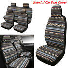 Colorful Car Seat Cover 9 Set Full Seat Covers for 5 seats Crossovers Universal
