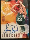 Larry Bird 2018-19 Court Kings #LS-LBD Legacies Ruby Red On-Card Autograph # 25