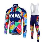 Mapei Long Sleeve Retro Cycling Jersey Bib Pant