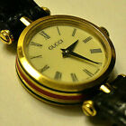 ⭐️Classic Vintage Gucci Leather Watch Red and Green Gold Plated Timepeice⭐️