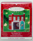 2001 FIRE STATION NO 1 NEW NM/VSD Box Hallmark Town Country Ornament Pressed Tin