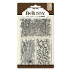 BoBunny ROUGH IT UP TEXTURES 3pc CLEAR ACRYLIC STAMP SET scrapbooking