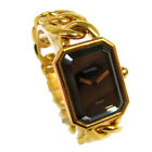 Authentic CHANEL Vintage Premiere Wristwatch Gold 750 K18 Quartz #M A35428d