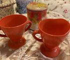 Vintage/Retro Anchor Hocking Fire King Milk Glass Sugar/Creamer~Burnt Orange~