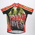 Vtg Cannondale Saeco cycling jersey mens L Made in USA 3 4 zip peloton graphics