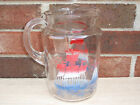 Anchor Hocking Clear Glass Vintage Water Pitcher With Sail Boats