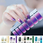 Nail Polish Strips Sticker Gradient Color Nail Decals Tips Manicure Decor