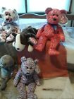 Ty Beanie Babie Retired lot Red Decade, USA, SLIPPERY, HONKS, BRUNO,, JACK CLAUD