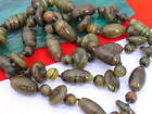 Hand Knotted Fused Art Glass Beads Necklace