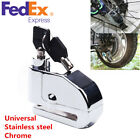 Stainless Steel Motorcycle Brake Disk Security Alarm Anti-theft Wheel Disc Lock