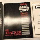 1991 GEO Tracker Shop Service Repair Manual 3 Books Electrical and Emissions