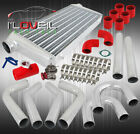 Big Fmic Intercooler + Gunmetal Red Rs Style Blow Off Valve + Mandrel Pipes Sets