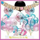 70 pc BABY GENDER REVEAL Complete Party Supplies Decorations Set