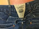 Levis Spring Bottom Wide Leg cinch back Jeans Europe Made in Italy 28x32