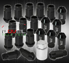 For Nissan 12mmx125 Locking Lug Nuts Euro Wheels Rims Threaded 20Pcs Unit Black