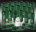 For Nissan 12X125 Locking Lug Nuts Wheels Extended Aluminum 20 Pieces Set Green