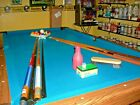 7 Ft Pool Table With All Accesories Que Billiard Balls Sticks Brush Rack