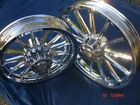 Harley Chrome 13 Spoke Fit Dyna 00 05 Sportster Wheels 00 07 Exchange Only