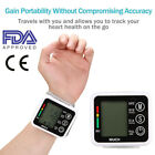 US Automatic Wrist Blood Pressure Monitor BP Cuff Heart Rate Tester Meter NEW