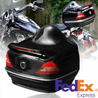 Universal Motorcycle Tail Trunk Box with Red Taillight Brake / Turn Signal Light