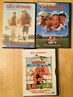 Lot of 3 80s Comedy dvds Meatballs The Great Outdoors Caddyshack Bill Murray