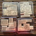 STAMPIN UP Lot 1 26 Wood Stamps Christmas Halloween Easter Sympathy Floral
