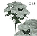Lot of 144 White Rose 20 Bush Artificial Silk Flower Home Wedding Bridal Party