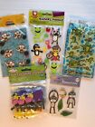 Amimals Scrapbook Stickers Lot American Greetings Zoo Monkeys Hippos Kids Crafts