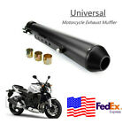 175Motorcycle Cafe Racer Exhaust Pipe Exhaust Pipe W Sliding Bracket Black USA