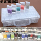 64 Slots Diamond Painting Tool Box Embroidery Geometric Jewelry Storage Case US