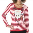 Berek Christmas Red  White Sweater Red Santa Sweater Womens Small