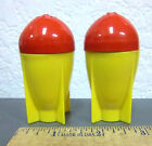 Rocket Ship salt and pepper shakers cute display piece not usable anymore