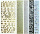 ALPHABET UPPER CASE Peel Off Stickers 10mm Letters Card Making Scrapbooking
