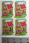 RARE VINTAGE 1980 FOUR SCRATCH AND SNIFF GINGERBREAD HOUSE STICKERS MELLO SMELLO