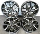 10 13 MAZDASPEED Mazda 3 Speed OEM 18x75 Wheels Rims Factory Black Wheel Rim