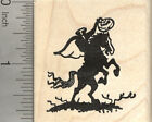 Headless Horseman Halloween Rubber Stamp Rider with Pumpkin Head G25507 WM