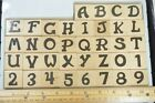 Whimsical Alphabet  Numbers Rubber Stamps Capital Letters Stampabilities 2005