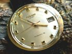 MOVADO HS 360 KINGMATIC S SUB SEA OVAL DIAL 10K GOLD BEZEL DATE WATCH MUST SEE
