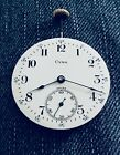 VINTAGE CYMA TAVANNES ANTIQUE POCKET WATCH MOVEMENT 40MM MINT DIAL RUNNING