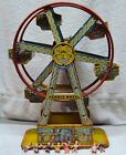 J Chein Working Hercules Ferris Wheel Wind up Toy Tin Litho Outstanding Graphics