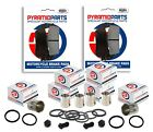 Honda CB600 F Hornet 07-08 FULL Front Brake Caliper Piston Kit Seals brake Pads