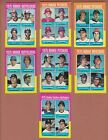1975 TOPPS VINTAGE ROOKIE CARDS COMPLETE SET OF 11 GARY CARTER JIM RICE HOF