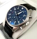 IWC  Pilot's Chronograph Watch IW377701 Wrist Watch for Men 43mm Black Leather