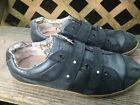UGG Australia Landry Shoes Comfort Navy w Straps Leather Sneakers Womens 8 GUC
