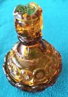 Vintage L.E. Smith Glass Amber Moon And Star Anniversary Jar Candy Compote Dish
