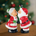MR AND MRS CLAUS SALT AND PEPPER SHAKERS 4 1 2H CHRISTMAS FUN NEW IN BOX