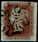 SG7 1d red brown PLATE 11 FINE USED Cat 130 BLACK MX 4 MARGINS ML